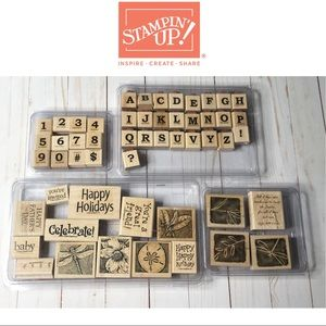 Stampin' Up Lot of Rubber Stamps Misc. Images